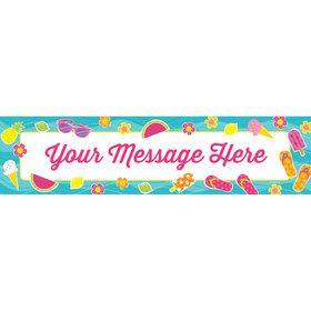 Flip Flop Fun Personalized Banner (Each)