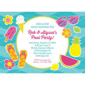 Flip Flop Fun Personalized Invitation (Each)