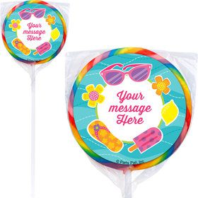 Flip Flop Fun Personalized Lollipops (12 Pack)