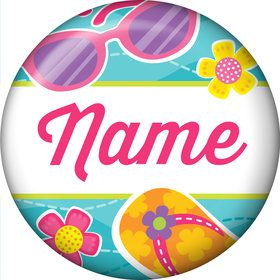 Flip Flop Fun Personalized Mini Magnet (Each)