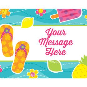 Flip Flop Fun Personalized Rectangular Stickers (Sheet of 15)