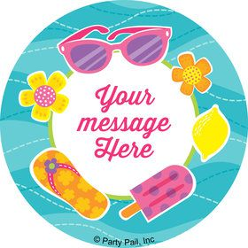 Flip Flop Fun Personalized Stickers (Sheet of 12)