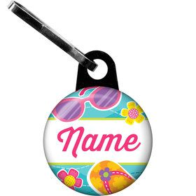 Flip Flop Fun Personalized Zipper Pull (Each)