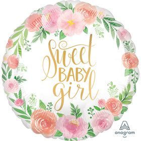 "Floral Baby Girl 18"" Balloon (1)"