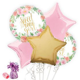 Floral Baby Shower Balloon Bouquet Kit