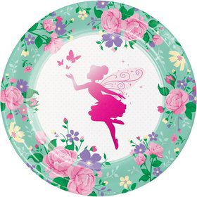 Floral Fairy Lunch Plate (8)