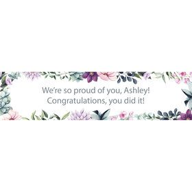 Floral Graduation Personalized Banner (Each)