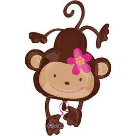 Floral Monkey Balloon Shape (each)