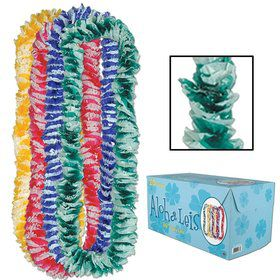 "Floral Multicolor Aloha 36"" Poly Leis (20 Pack)"