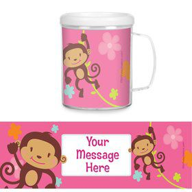 Flower Monkey Personalized Favor Mugs (Each)