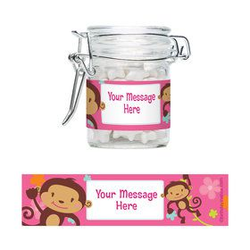 Flower Monkey Personalized Glass Apothecary Jars (10 Count)