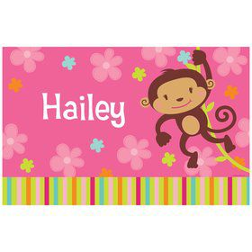 Flower Monkey Personalized Placemat (each)
