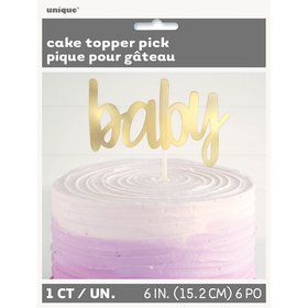 "Foil ""Baby"" Baby Shower Cake Topper"