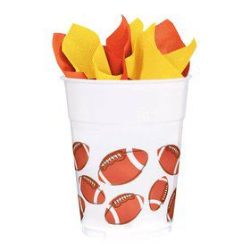 Football 14Oz. Plastic Favor Cup (8 Pack)