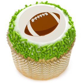 "Football 2"" Edible Cupcake Topper (12 Images)"