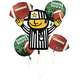 Football Balloon Bouquet (5 pack)