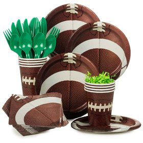 Football Birthday Party Standard Tableware Kit Serves 8