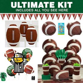 Football Birthday Party Ultimate Tableware Kit Serves 8