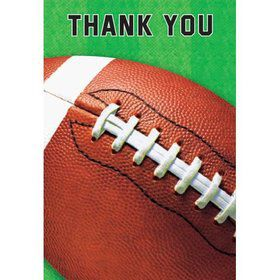 Football Folded Thank You Notes (6 Pack)