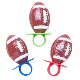 Football Lollipop Rings (3 Count)