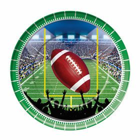 """Football Party 9"""" Dinner Plates (8)"""