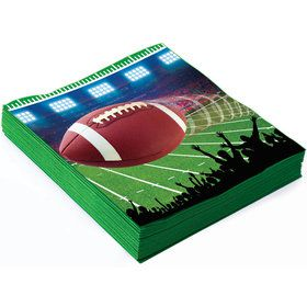 Football Party Beverage Napkins (16)