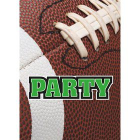 Football Party Invitations (8 Count)