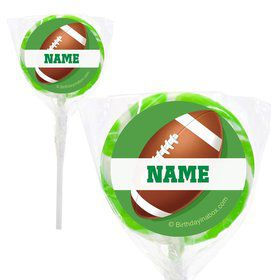 "Football Party Personalized 2"" Lollipops (20 Pack)"