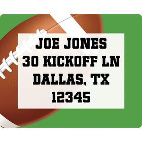 Football Party Personalized Address Labels (sheet of 15)