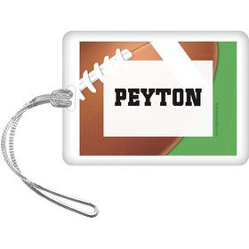 Football Party Personalized Bag Tag (each)
