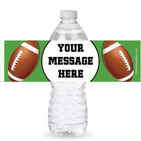 Football Party Personalized Bottle Labels (Sheet of 4)