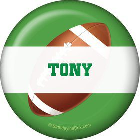 Football Party Personalized Button (each)