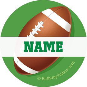 Football Party Personalized Mini Stickers (Sheet of 20)
