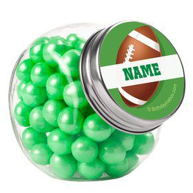 Football Party Personalized Plain Glass Jars (12 Count)