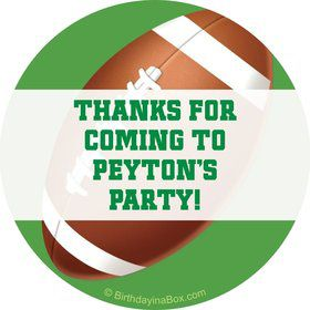 Football Party Personalized Sticker (sheet of 12)