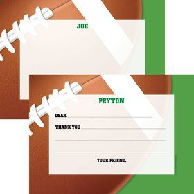 Football Party Personalized Thank You Note