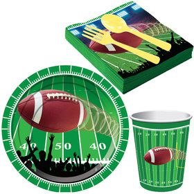 Football Party Standard Tableware Kit (Serves 8)