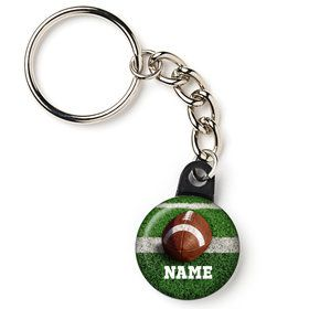 "Football Personalized 1"" Mini Key Chain (Each)"
