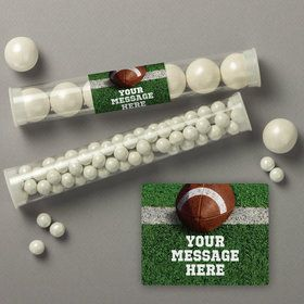 Football Personalized Candy Tubes (12 Count)