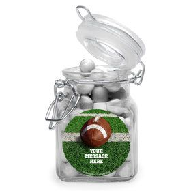 Football Personalized Glass Apothecary Jars (12 Count)