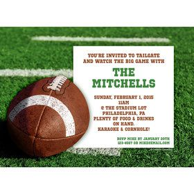 Football Personalized Invitation (Each)
