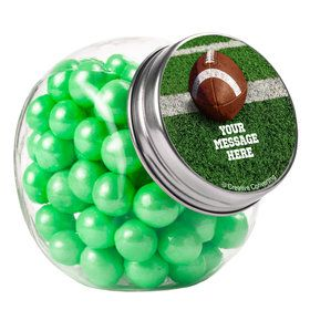 Football Personalized Plain Glass Jars (10 Count)