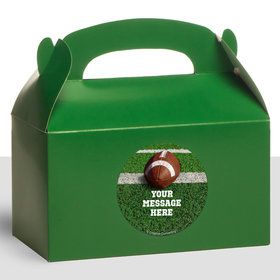 Football Personalized Treat Favor Boxes (12 Count)