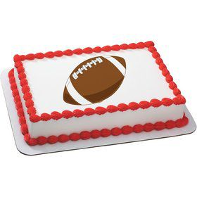 Football Quarter Sheet Edible Cake Topper (Each)