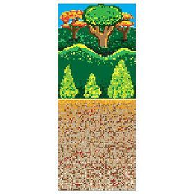 Forest 8-Bit Backdrop Wall Decoration (Each)