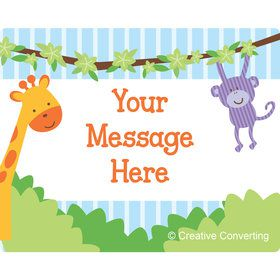 Forest Friends Personalized Rectangular Stickers (Sheet of 15)