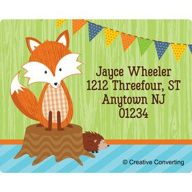 Fox Personalized Address Labels (Sheet of 15)