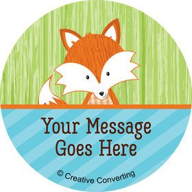 Fox Personalized Mini Stickers (Sheet of 24)