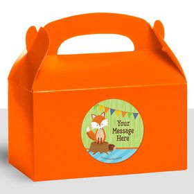 Fox Personalized Treat Favor Boxes (12 Count)
