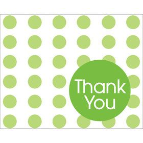 Fresh Lime Dots Thank You Notes (8)